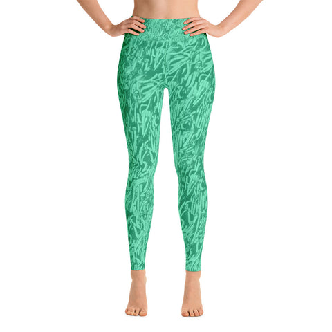 "Bemeir ""Billion Year"" Yoga Pants in Teal"
