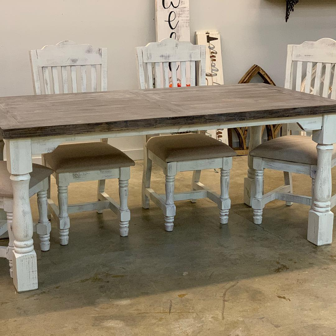 6' Farm Table, Chairs & Bench $1459 (sold) Message us to order