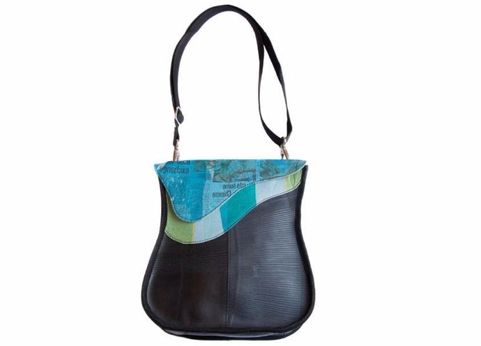 Blue Wave Recycled Tire Bag