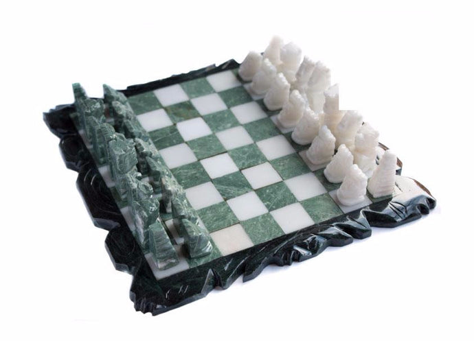 Mayan Marble Chess Set