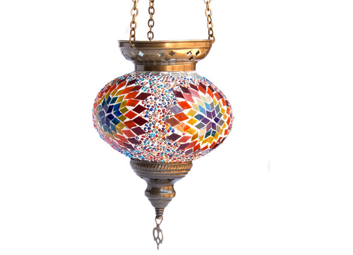 Turkish Glass Mosaic Lantern - Large