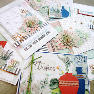 *new* KAISERCRAFT Greenhouse Succulent designer papers