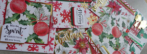 Christmas holly designer card & paper pack