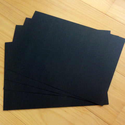 "CARD A4 ""SMOOTH BLACK"" 250 GSM 100 SHEETS BULK BUY CARDMAKING"