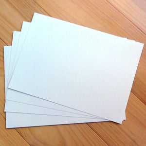 "CARD A5 METALLIC SHIMMER ""PEARL WHITE"" 250 GSM 20 SHEETS"