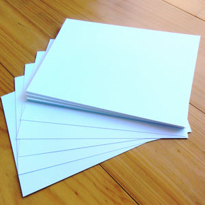 "CARD A5 ""LINEN WHITE"" WARM WHITE 280 GSM 30 SHEETS CARDMAKING"