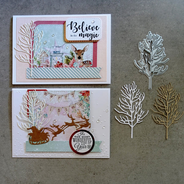 shopaperartz CHRISTMAS TREE WINTER TREE BARE TREE CUTTING DIE CARDMAKING
