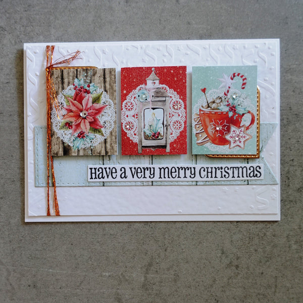 FREE STENCIL:  MINTAY CHRISTMAS STORIES 6x6 CARD PAPER PACK 24 SHEETS CARDMAKING