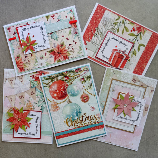 MINTAY + MIXED BRANDS CHRISTMAS STORIES 6X4 CARD PAPER PACK #2 24 SHTS + EMBELLIES CARDMAKING