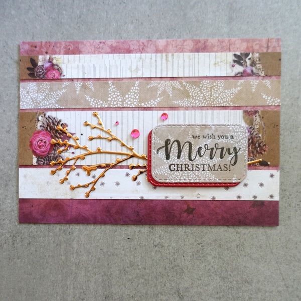 "STUDIO LIGHT CHRISTMAS ""WINTER DAYS"" DESIGNER PAPER PAD #1 6x6 36 SHEETS 170GSM CARDMAKING PPWD99"