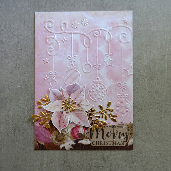 shopaperartz CHRISTMAS MISTLETOE & BOW FOLIAGE SPRAY CUTTING DIE CARDMAKING