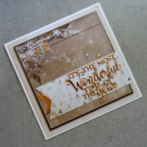 "STUDIO LIGHT CHRISTMAS ""WINTER DAYS"" DESIGNER PAPER PAD #2 6x6 36 SHEETS 170GSM CARDMAKING PPWD100"