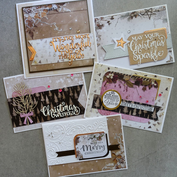 "STUDIO LIGHT NORDIC CHRISTMAS ""WINTER DAYS"" DESIGNER CARD PAPER PACK #2 6x6 24 SHEETS CARDMAKING"