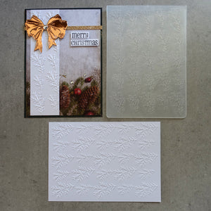 central craft EMBOSSING FOLDER A2 10.5X15 CHRISTMAS PINE BRANCH CARDMAKING CCC-4011