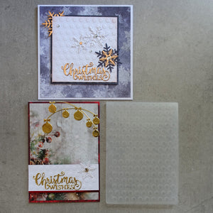 central craft EMBOSSING FOLDER A2 10.5X15 CHRISTMAS SNOWFLAKE SNOW FLOWER CARDMAKING CCC-4016