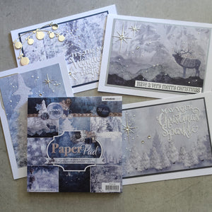 "STUDIO LIGHT ""SNOWY AFTERNOON"" NORDIC CHRISTMAS PAPER PAD 6x6 36 SHEETS 170 GSM CARDMAKING PPSA126"