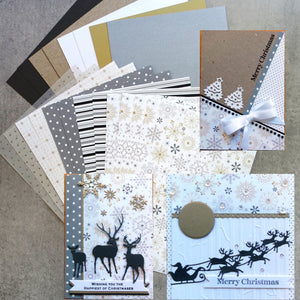 "CARD PAPER A5 PACK ""SNOW PRINCESS"" #3 CHRISTMAS DESIGNER CARDMAKING 20 SHEETS"