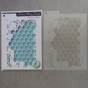 PRELOVED MEMORY BOX DESIGNER STENCIL TEXTURE HONEY COMB 16cm x 12cm TEMPLATE FOR CARDMAKING