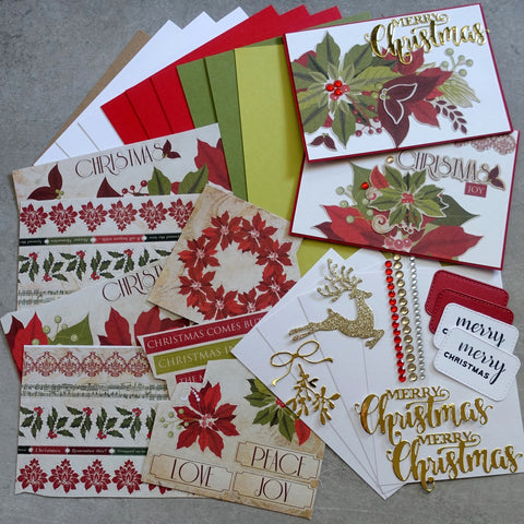 KAISERCRAFT CHRISTMAS CAROL A5 CARD STICKER & EMBELLISHMENT PACK CARDMAKING