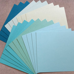 "CARD 6""x6"" KAISERCRAFT AQUA TEAL SEA GREEN BLUE TEXTURED 216 GSM 20 SHEETS CARDMAKING"
