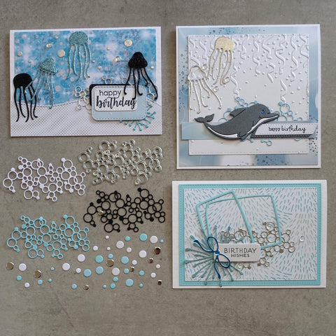 shopaperartz SMALL BUBBLES CIRCLES DOTS CUTOUT ACCENT CUTTING DIE CARDMAKING