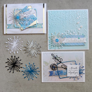 shopaperartz FLOWER BURST LAYER PETALS CUTTING DIE CARDMAKING