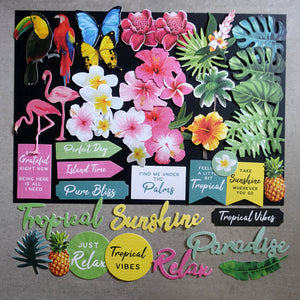 KAISERCRAFT SUNKISSED TROPICAL COLLECTABLES DIE-CUTS CT979 43 PCS CARDMAKING