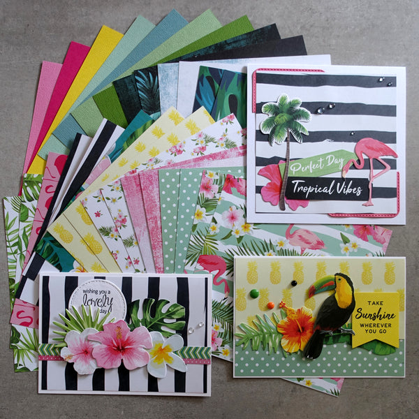 KAISERCRAFT SUNKISSED TROPICAL 6X6 CARD PAPER PACK 30 SHEETS CARDMAKING