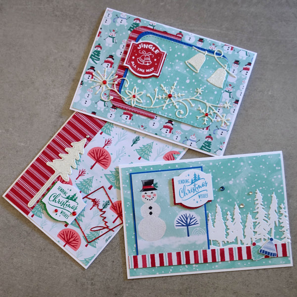 STAMPIN' UP! LET IT SNOW #2 SNOWMAN CHRISTMAS FESTIVE CARDMAKING PACK 60 PIECES