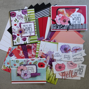 STAMPIN' UP! PAINTED POPPIES PRETTY FLOWERS FLORAL CARDMAKING PACK 45+ PIECES