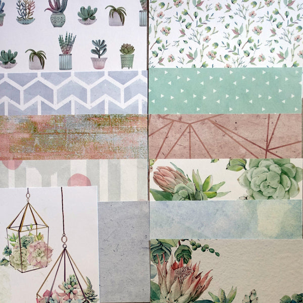 KAISERCRAFT GREENHOUSE BOTANICAL SUCCULENT CARDMAKING PACK 60+ PIECES CARDMAKING