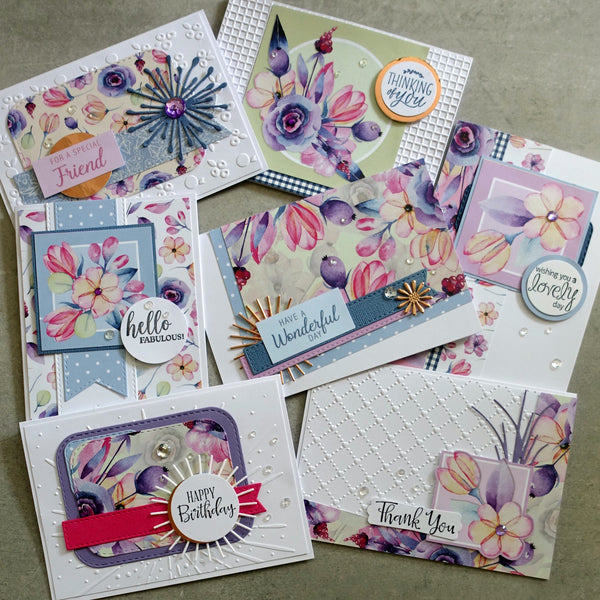 BOHO BLOOMS FLORAL FLOWERS BOTANICAL 6x4 A5 CARD PAPER PACK #1 60+ PIECES CARDMAKING