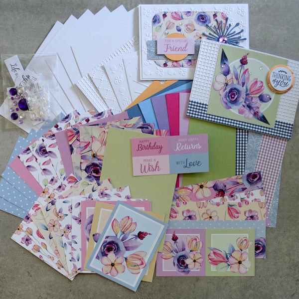 BOHO BLOOMS FLORAL FLOWERS BOTANICAL 6x4 A5 CARD PAPER PACK #2 60+ PIECES CARDMAKING