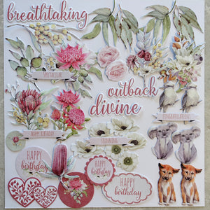 UNIQUELY CREATIVE OUTBACK DEVINE CREATIVE CUTS COLLECTABLES AUSTRALIANA DIE-CUTS 40 PIECES CARDMAKING UCP217319