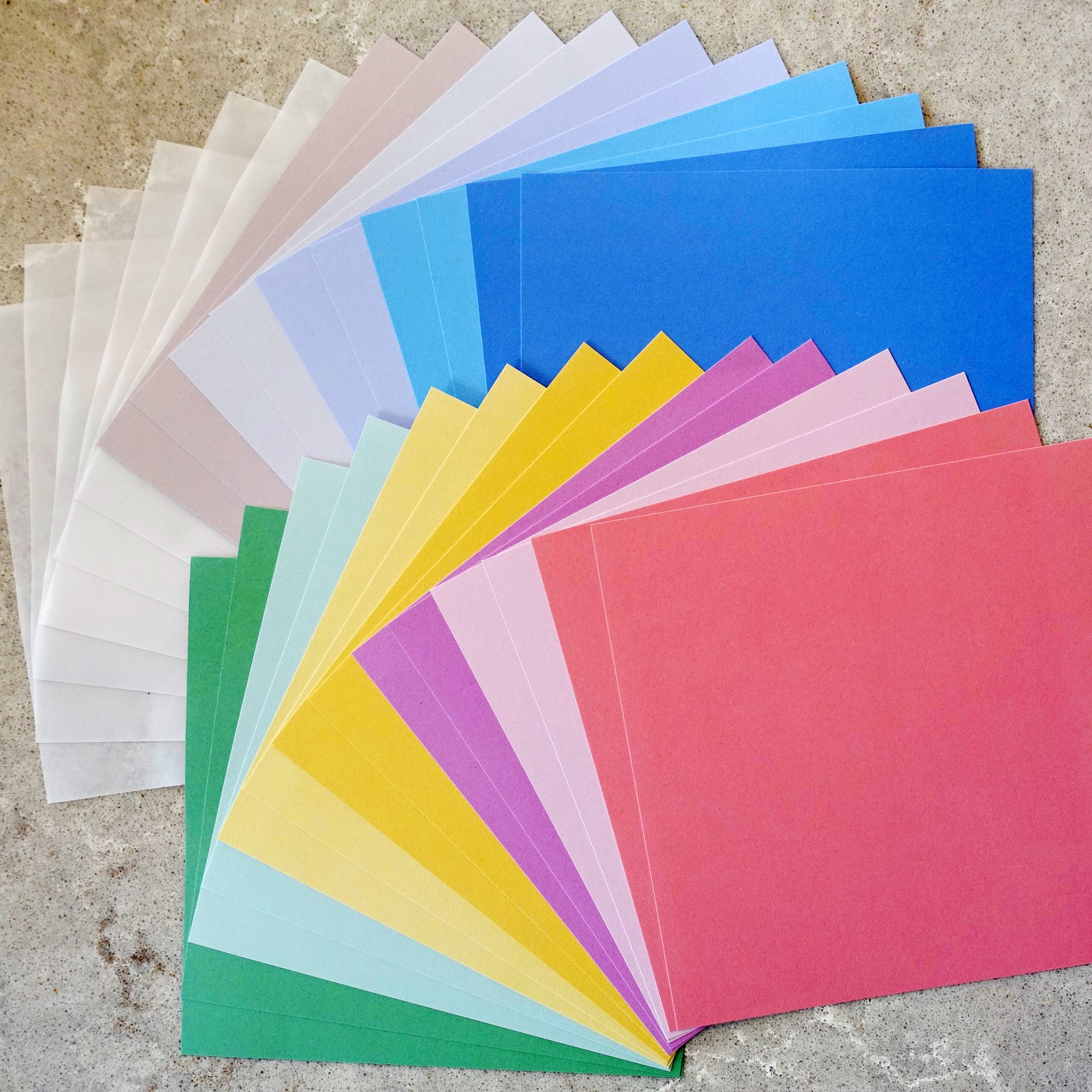 "DCWV PAPER PACK 6""x6"" MIXED PASTEL COLOURS 30 SHEETS BABY BIRTHDAY CARDMAKING"