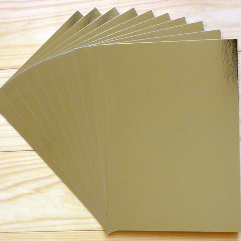 FOIL MIRROR CARD A4 GOLD 275 GSM 10 SHEETS CHRISTMAS BIRTHDAY WEDDING CARDMAKING
