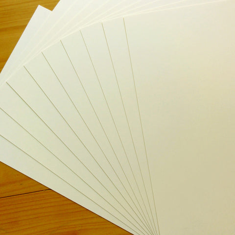 CARD A5 SMOOTH IVORY CREAM 280 GSM 30 SHEETS CARDMAKING