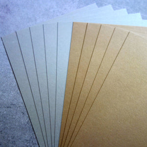 CARD A5 METALLIC SHIMMER GOLD LEAF PLATINUM SILVER 250 GSM 12 SHEETS