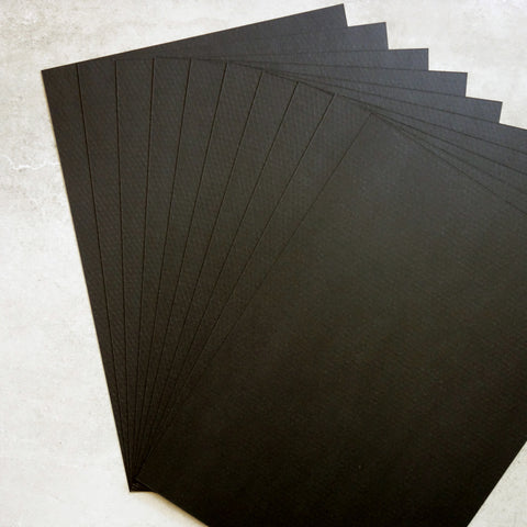 CARD A5 MINI DIAMOND BLACK EBONY TEXTURED 300 GSM 20 SHEETS MALE CARDMAKING