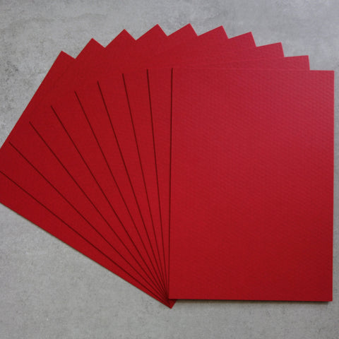 CARD A5 MINI DIAMOND CHRISTMAS RED TEXTURED 300 GSM 20 SHEETS