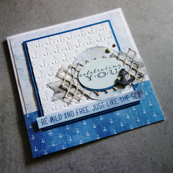 "IMPRESSION OBSESSION ""CELEBRATING YOU"" B13690 BIRTHDAY CELEBRATION SENTIMENT CLING STAMP CARDMAKING"