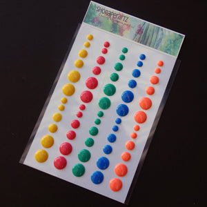 ENAMEL DOTS EMBELLISHMENTS ACCENTS CARD-MAKING 60 PIECES - BOLD & BRIGHT #8