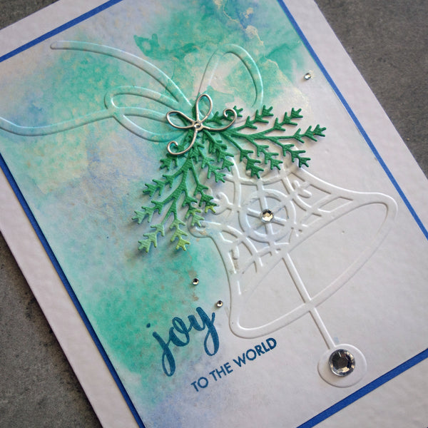 shopaperartz EMBOSSING FOLDER A2 JINGLE BELL CHRISTMAS BELL SILVER BELL CARDMAKING