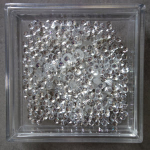 SEQUIN MIX SPARKLY CRYSTAL 4MM CUPPED EMBELLISHMENTS ACCENTS CARDMAKING
