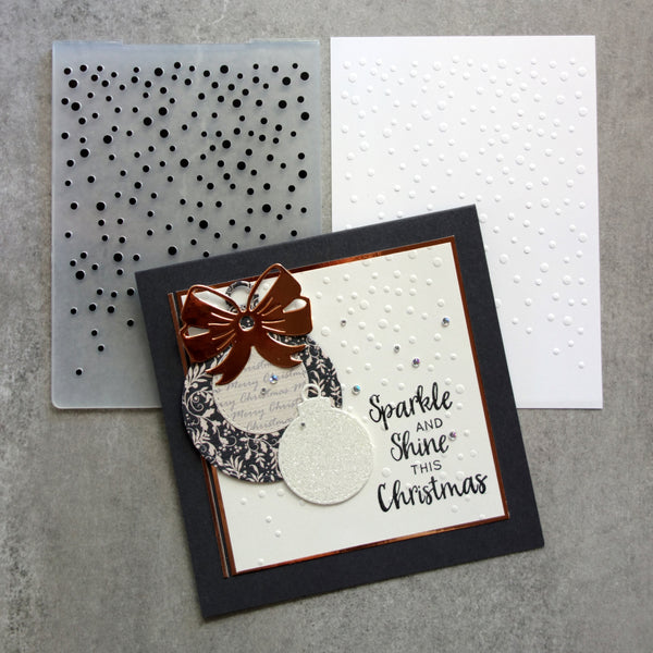 shopaperartz EMBOSSING FOLDER A2 SNOWFALL SNOW FALL FADING DOTS CHRISTMAS BIRTHDAY CARDMAKING