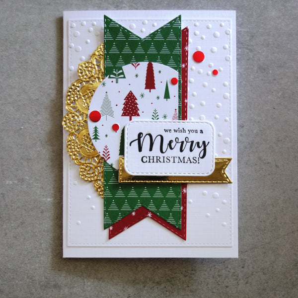 KAISERCRAFT CHRISTMAS SENTIMENTS MIX & MATCH CLEAR STAMP SET CS339 8 PIECES CARDMAKING