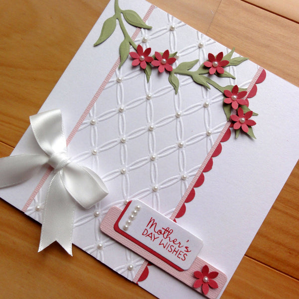 EMBOSSING FOLDER A2 DIAMOND LATTICE BIRTHDAY WEDDING ANNIVERSARY CARDMAKING