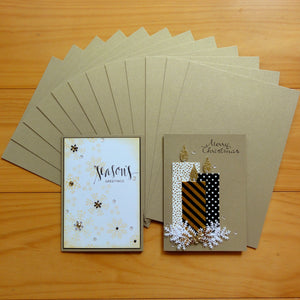 CARD A5 METALLIC SHIMMER GOLD LEAF 250 GSM 12 SHEETS CARDMAKING