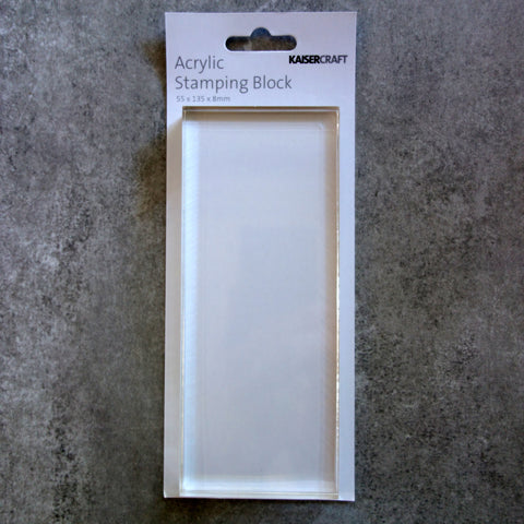 KAISERCRAFT ACRYLIC STAMPING BLOCK PERFECT FOR CLING & CLEAR STAMPS CARDMAKING