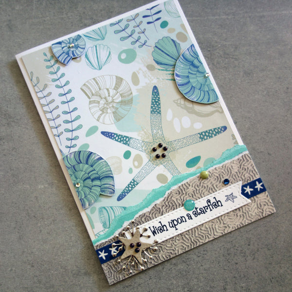 KAISERCRAFT DEEP SEA BEACH OCEAN NAUTICAL COASTAL 6x6 CARD PAPER PACK 24 SHEETS CARDMAKING